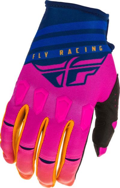 Fly Racing Glove Kinetic K220 Kids midnight blue-orange