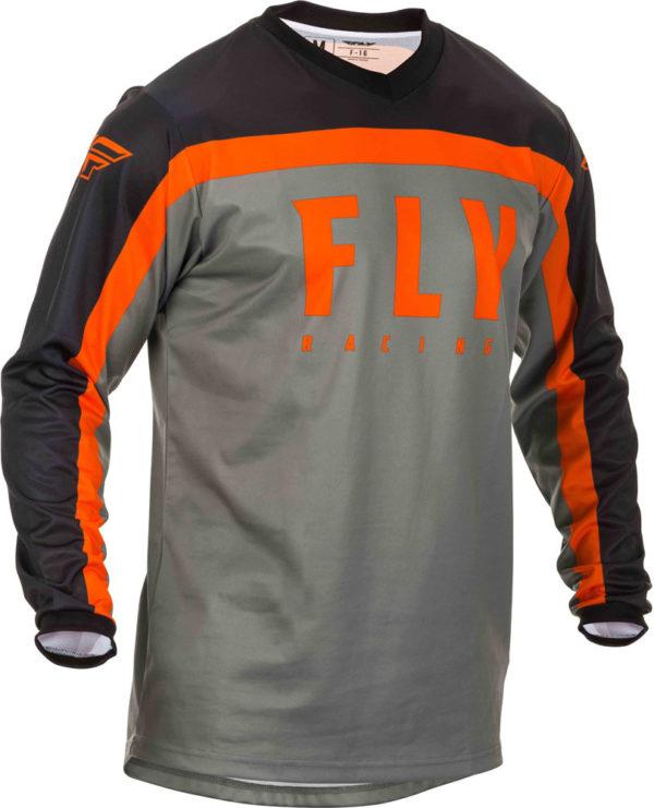 Fly Racing Jersey F-16 Kids grey-black-orange