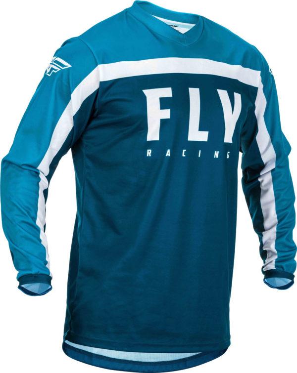 Fly Racing Jersey F-16 Kids navy-blue-white