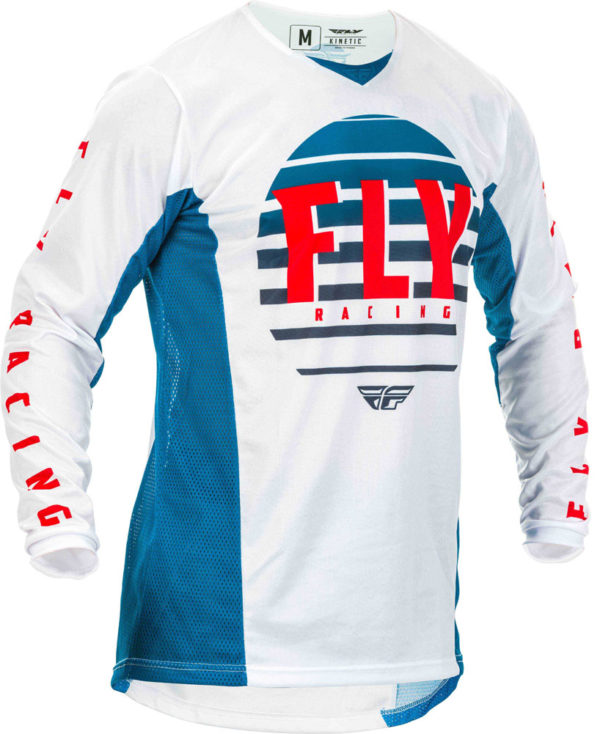 Fly Racing Jersey Kinetic K220 Kids blue-white-red