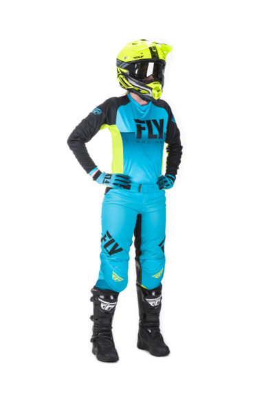 Fly Racing Jersey Lite Lady blue-hi-vis