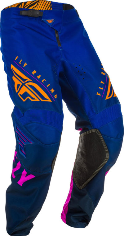 Fly Racing Pant Kinetic K220 Kids midnight blue-orange