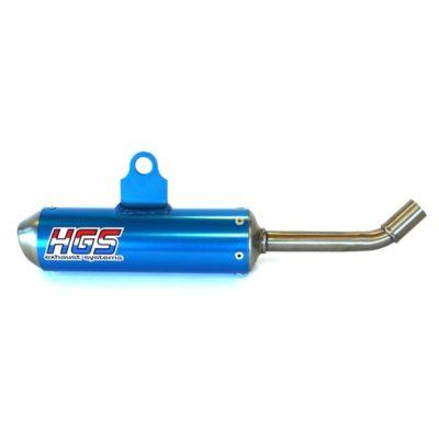 HGS 2 Takt Schalldämpfer KTM SX 85 / HVA TC 85 18-20 / blau