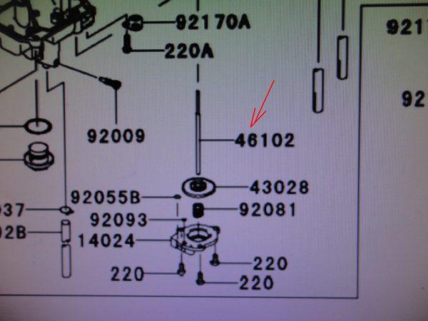 ROD für Beschleunigerpumpe Vergaser FCR KXF 250 450 04-10 46102-0033