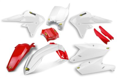 CYCRA POWERFLOW COMPLETE PLASTIKKIT YAMAHA YZF14-17 WHITE/RED