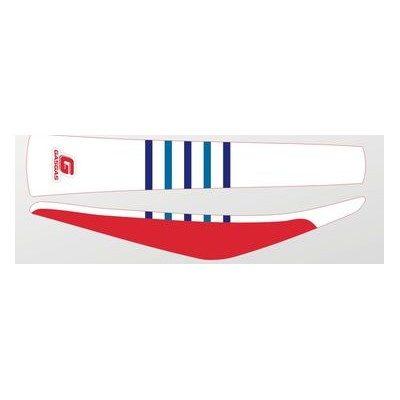 Sitzbankbezug Seatcover Gas Gas EC XC 250 300 18-20 / rot weiss – blaue Streifen