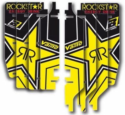 BLACKBIRD ROCKSTAR AUFKLEBER KÜHLERGRILL STICKER SUZUKI RMZ 250 10-18 A302R3