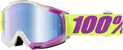 100% BRILLE ACCURI TOOTALOO OFFROAD GOGGLE VERSPIEGELTES GLAS MIRROR BLUE LENS