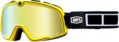 100% BRILLE BARSTOW BURNWORTH RACING GOGGLE VERSPIEGELTES GLAS MIRROR GOLD LENS