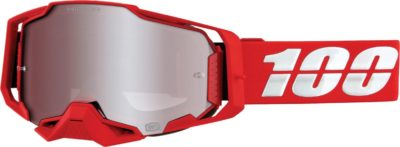 100% BRILLE GOGGLE ARMEGA RED HIP SIL MIR S20