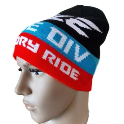 Ihle Racing Beanie Wintermütze – black/red/blue