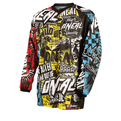 O'Neal ELEMENT Kinder MX Jersey WILD multi Youth Kids Motocross Shirt
