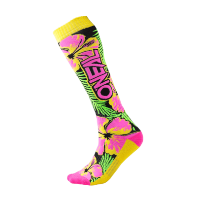 O'Neal PRO MX Socke ISLAND pink/green/yellow