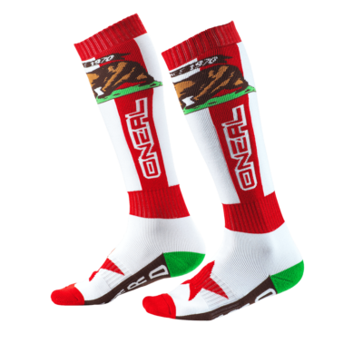 O'Neal PRO MX Socke CALIFORNIA red/white/brown
