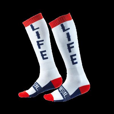 O'Neal PRO MX Socke MOTO LIFE white/red/blue