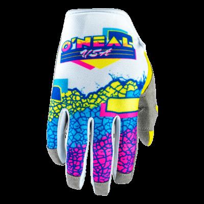 O'Neal MAYHEM Handschuhe CRACKLE 91 yellow/white/blue Motocross Gloves