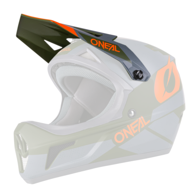O'Neal Spare Visor SONUS MX Helm DEFT gray/olive/orange