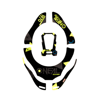 O'Neal Tron Neckbrace Stickers ASSAULT black/neon yellow/blue