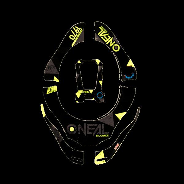 O'Neal Tron Neckbrace Stickers ASSAULT black/neon yellow/blue