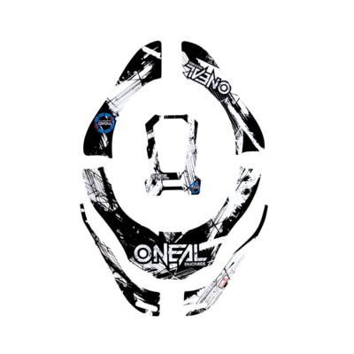 O'Neal Tron Neckbrace Stickers Shocker black/white