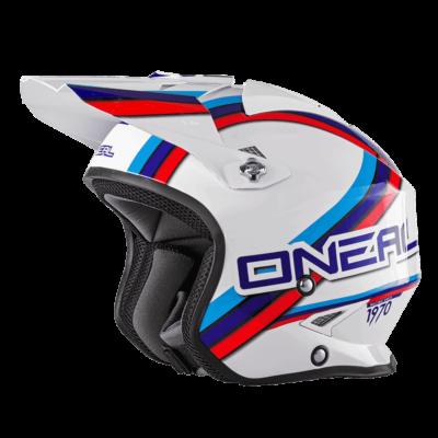 O'Neal Spare Visor SLAT MX Helm CIRCUIT white/blue/red