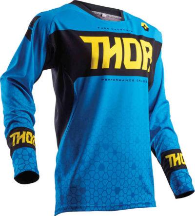 Thor Fuse S18 bion blue Jersey Hemd Fahrershirt Motocross Enduro Gr. L / blau