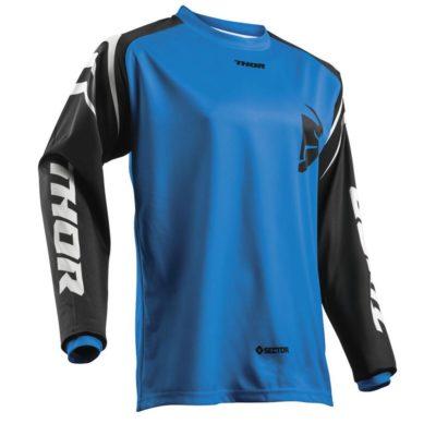 Thor Sector Zone blue Jersey Hemd Fahrershirt Motocross Enduro Gr. L / blau