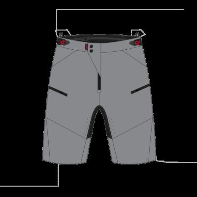 O'Neal PIN IT Shorts gray Motocross Pants