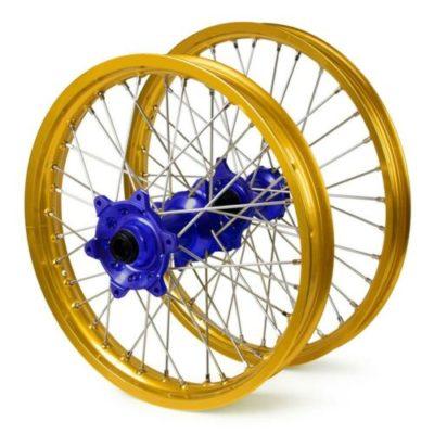 VMX Radsatz Räder Felgen Suzuki RMZ 250 450 07-21 gold-blau 21″/19″