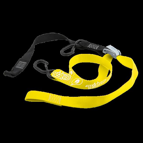 O'Neal DE LUXE Spanngurte Transportgurte mit Haken Tie Downs gelb 1 Paar