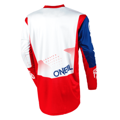 O'Neal ELEMENT MX Jersey FACTOR white/blue/red Motocross Shirt