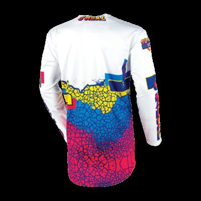 O'Neal MAYHEM MX Jersey CRACKLE 91 yellow/white/blue Motocross Shirt
