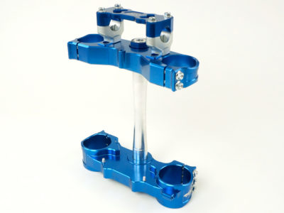 GECO 2D Gabelbrücke SHERCO SE SEF 250-450 12- 22mm Versatz, blau, inkl. Anbaukit