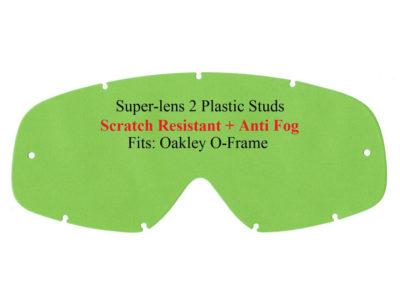 Polywel E-Glas Scheibe Oakley 2000/O-Frame kratzfest m. Halter klar