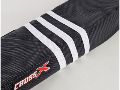 CrossX TLD Sitzbezug KTM SX SXF 125 250 350 19- / EXC 20- Schwarz Weiß