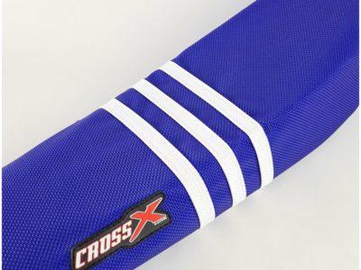 CrossX TLD Sitzbezug KTM SX SXF 125 250 350 19- / EXC 20- Blau Weiß