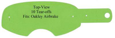Polywel RNR Abreißscheiben Tear Offs 10er Pack Oakley Airbrake