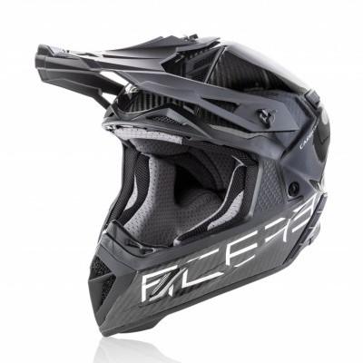 ACERBIS MOTOCROSS HELM STEEL CARBON – black silver