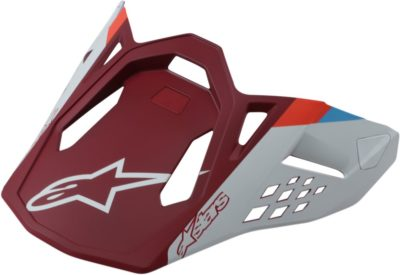 ALPINESTARS VISOR HELMSCHILD SM 8 CONTACT RED MATT