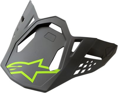 ALPINESTARS VISOR HELMSCHILD SM 8 RADIUM GREY/YELLOW