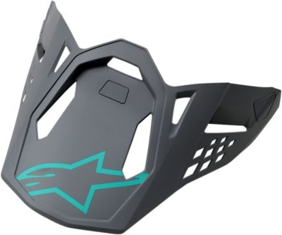 ALPINESTARS VISOR HELMSCHILD SM 8 RADIUM GREY/TEAL
