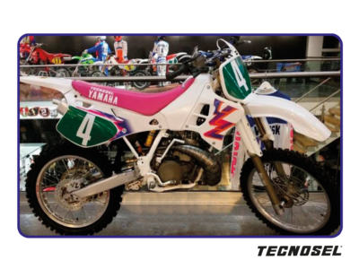 TECNOSEL GRAPHICS DEKORSATZ DEKOR KIT RETRO YAMAHA YZ 125 250 TEAM 93