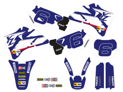 TECNOSEL GRAPHICS DEKORSATZ DEKOR KIT RETRO YAMAHA YZ 125 250 TEAM 98