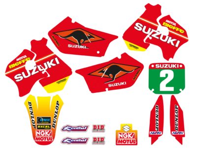 TECNOSEL GRAPHICS DEKORSATZ DEKOR KIT RETRO SUZUKI RM 125 250 TEAM 98