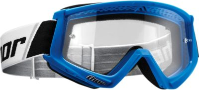 THOR BRILLE GOGGLE COMBAT OFFROAD MOTOCROSS BLAU WEISS