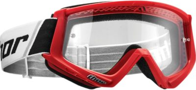 THOR BRILLE GOGGLE COMBAT OFFROAD MOTOCROSS ROT SCHWARZ