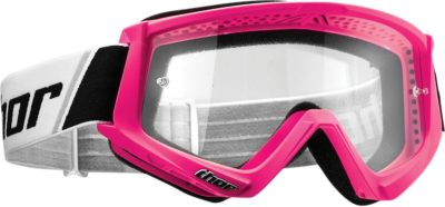 THOR BRILLE GOGGLE COMBAT OFFROAD MOTOCROSS PINK SCHWARZ