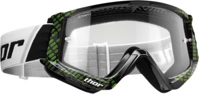 THOR BRILLE GOGGLE COMBAT CAP OFFROAD MOTOCROSS BLACK/LIME