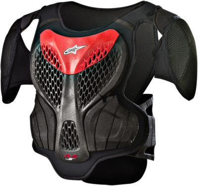 ALPINESTARS YOUTH KIDS A-5 S PROTEKTOR BRUSTPANZER BLACK/RED