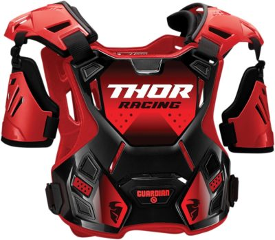 THOR CHEST PROTECTOR BRUSTPANZER YOUTH KIDS GUARDIAN S20 ROT/SCHWARZ